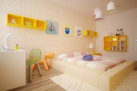 Yellow kids room furniture