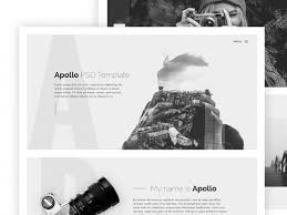 Photography Website Templates Interesting Apollo One Page HTML Template For Photographers Freebiesbug