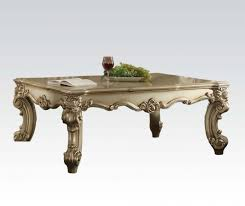 acme vendome rectangular coffee table in gold patina 83120 by dining rooms