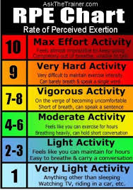 Rate Of Perceived Exertion Chart Pin On Pe