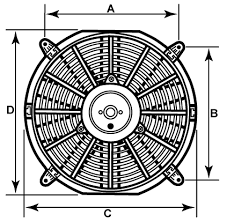 automotive electric fan 12 x 2 1 4 all electric fans require a 30 amp fuse for start up protection