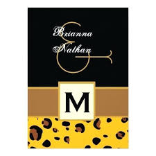 Gold Tan Black Leopard Style 2 Wedding Template Personalized