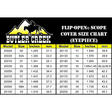 Butler Creek Scope Caps Chart Butler Creek Flip Open Scope Cover Eye Piece