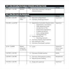 Staff Orientation Checklist New Employee Orientation Program Template Orientation For New