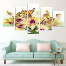 Small Picture No Frame Paintings Fashion Design 5 Panel Modern Wall Painting