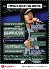 Drug Addiction Quotes Mesmerizing Eminem's Quotes On Drugs And Addiction Recovery INFOGRAPHIC