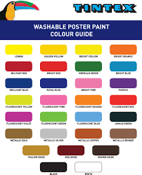 Tintex Colour Chart Colour Chart For Tintex Washable Poster Paint