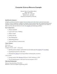 computer science resume template doc internship word samples  sample resume for bsc computer science student template it workers teacher