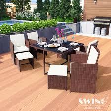 Poly Rattan Sitzgruppe Esstisch Lounge Gartenmöbel S Real