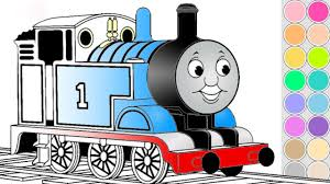Includes subway, tender locomotive, monorail, freight train and more! Coloring Thomas Train For Kids Drawing Animation Thomas And Friends Colouring Book Pages Youtube