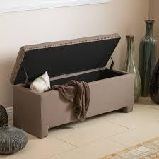 hudson mocha fabric storage ottoman bench  great deal furniture