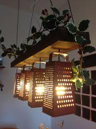 recycled furniture pinterest. suspended lamp made out of recycled graters furniture pinterest f