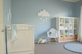 Blue and White Nursery with Cloud Wall Hanging - Project Nursery