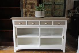 wooden 4 drawer sliding glass door sideboard