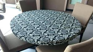 fitted tablecloths with elastic round elastic tablecloth round elasticized fitted tablecloth in black and cream outdoor