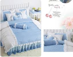pink ruffle princess cotton duvet cover wedding bedding set queen king twin size sheets western bright comforter duvet set king duvet cover clearance