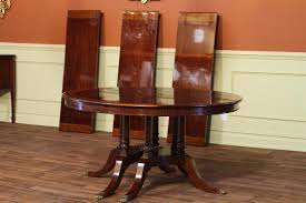 nice round dining table round to oval mahogany dining table with leaves