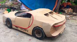 How to make bugatti chiron rc cardboard /with automatic door. World S Fastest Car Bugatti Chiron Made From Cardboard Caradvice
