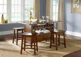 5 Piece Bar Table Set Wine Storage Bar Table Dining Room Set Kitchen Furniture Dining