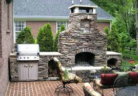outdoor stone grill stacked stone fireplace top fireplaces cozy atmosphere outdoor stone grill