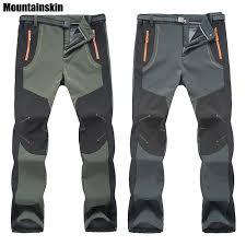 <b>2018 New Winter Men</b> Women Hiking Pants Outdoor Softshell ...