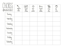 Printable Kids Chore Chart A Guest Post The Chirping Moms