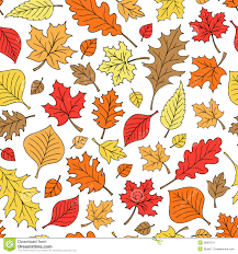 Fall Leaf Pattern Awesome Seamless Autumn Fall Leaves Pattern Vector Stock Vector