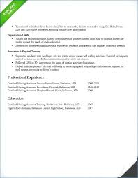 Cna Resume Sample With No Experience Resume Layout Com