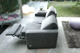 modern reclining loveseat furniture grey fabric sofa on recliner stone tile floor in double c5