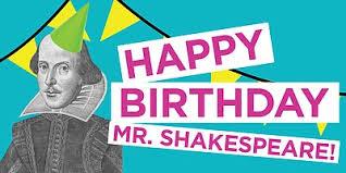Happy Birthday Mr Shakespeare April 22 2017 Kpbs