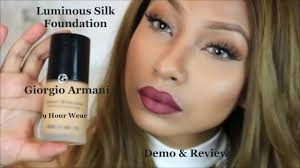 Armani Designer Foundation Review Giorgio Armani Luminous Silk Foundation 7 5 Demo Review