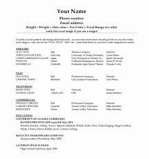 Beginner Acting Resume Delectable Beginner Acting Sample Resume 48 Useful Sample Acting Resume