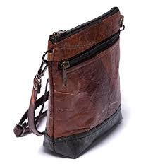 teak leaf non leather animal free purse 60