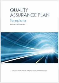 Quality Assurance Plan Example Quality Assurance Plan Templates Ms Word Excel Templates