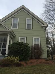 asbestos siding in very good shape trim in good condition nicely painted historic homes westborough ma