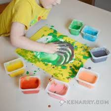 easter egg finger painting craft for kids and toddlers kenarry com