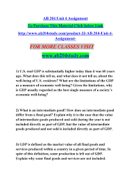 What Is Not Included In Gdp Ab 204 Unit 4 Assignment By Chikki Issuu