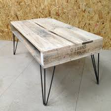 ... Old Pallet Coffee Table Reclaimed Wood With Hairpin Legs Plans Pdf:  Full Size