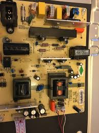 hitachi le55a6r9a. i plug in the tv, hit power so that light goes blue, ground black probe on metal part of tv case and jam red down into hitachi le55a6r9a