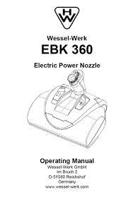 ebk 360 complete kit documentation help md central vacuum owner s manual wessel werk ebk 360