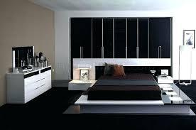 contemporary black bedroom furniture. White Modern Bedroom Furniture Set Black High Gloss Finish Contemporary Sets