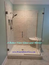 virginia shower doors installation with treated glass