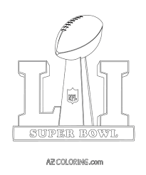 Super Bowl 2017 Coloring Page Coloring