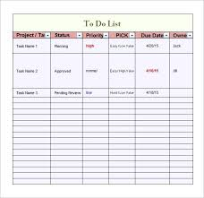 To Do List Template Excel Priority Beadesigner Co