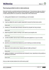 Rearranging Jumbled Words To Make Sentences