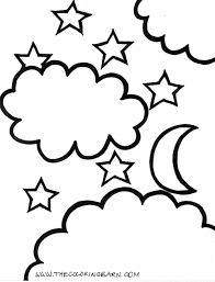 Small Picture Moon and star coloring page Ethans Birthday Pinterest Moon