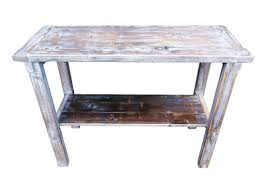 pine side table reclaimed distressed wood whitewashed console by argos tables hall kitchen stools large uk tv white shallow oak telephone furniture bedroom