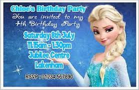 Frozen Birthday Invitations Details About Personalised Frozen Birthday Party Invite Invites Invitation Cards With Envs