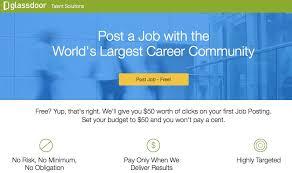 glassdoor job posting service