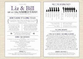 Wedding Reception Program Template Free Best Of Open The Word